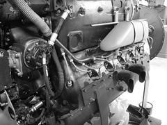 Me109 G2  WrkNr 14055  NI + BY (flyhistorie) Tags: blackandwite bw daimlerbenz db605 engine switch wiring system me109 bf109 messerschmitt sola flymuseum jærmuseet luftwaffe jg5 restoration original interiør cable workshop