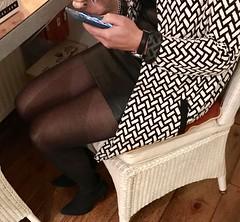 MyLeggyLady (MyLeggyLady) Tags: stockings hotwife milf secretary sexy minidress cfm boots stiletto legs heels