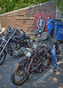 Shed Built.. (Harleynik Rides Again.) Tags: shedbuilt ratbike bikers bike ncc 33 somerset chopperclub harleynikridesagain