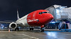 Nocturnal Norwegian. (spencer_wilmot) Tags: nax dy norwegian norshuttle ramp night nighttime nightshoot boeing red apron gate stand aircraft aviation airplane airliner airport airside airbridge twin 737 737800 738 737ng b737 b738 civilaviation commercialaviation jet jetliner plane passengerjet taxiway arnessa arn essa arlanda stockholm sweden