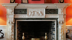 mantle detail (foxtail_1) Tags: greenbrierhotel greenbrier northparlor fireplace mantle panasoniclumixg85 panasonicg85
