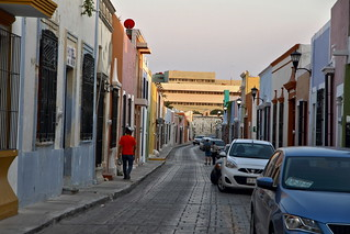 In the streets of Campeche