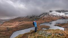 Best things in life ...are free. (Einir Wyn Leigh) Tags: landscape walking mountains pleasure valley snowdonia snow winter happy lake water outside wales cymru