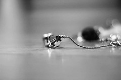 An old favorite (Angela Vezina) Tags: necklace favorite jewellery blackandwhite bokeh stones silver canon 50mm dof depthoffield shallow