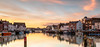 Ghost Town Sunset (Chrissphotos) Tags: ghosttown weymouth harbour winter sunset reflection boats water restaurants chipshop bridge church pubs 5dsr 1635 f14 31mm iso100 120s