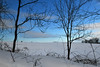 Not quite spring in western New York State (dr_marvel) Tags: blue winter snow pittsford ny newyork treeline rochester field afternoon
