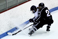 Snow shower (stephencharlesjames) Tags: ice hockey womens sport college sports winter middlebury bowdoin ncaa vermont action