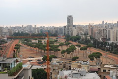 IMG_5917 (yass AH) Tags: road hypodrome badaro beirut lebanon competitive horses race track urban setting gloomy overview city sky tree building