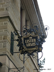 Pub Sign for The Lister Arms - Wetherspoon - Ilkley West Yorkshire England (WanderingPhotosPJB) Tags: flickruploaded pubsigns pubspubsigns england westyorkshire ilkley wetherspoons listerarms pub publichouse inn