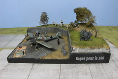 """Diorama """"Repos pour le 109"""" (rony.1) Tags: diorama maquette bf109 ronylamaquette hobbykit scalemodel 148"""