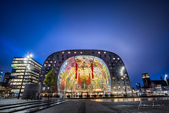 Rotterdam Markthal II (Alec Lux) Tags: rotterdam architecture atmosphere bluehour building city cityscape colorful colors design holland interior lights longexposure market markthal netherlands night nightscape psychedelic skyscraper structure symmetry urban zuidholland nl