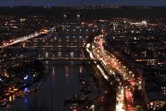La Seine à Rouen le soir du 15 janvier 2018. III (stephane.desire) Tags: rouen fleuve 76 seine ville soir pont pluie paysage extérieur laseine normandie péniche lumière paysageurbain eau architecture arche pose