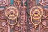 Door Knockers, Abyaneh Village, Isfahan Province, Iran (Feng Wei Photography) Tags: ancient middleeast isfahan abyaneh islam landmark colorimage door traveldestinations islamicculture doorhandle builtstructure iran iranianculture buildingexterior horizontal house islamic outdoors architecture sunny tourism travel village ir