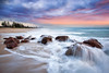 Miami Beach || GOLD COAST || QUEENSLAND (rhyspope) Tags: australia aussie qld queensland gold coast miami beach sunrise sunset rhys pope rhyspope canon 5d mkii rocks waves flow water sea ocean sky clouds weather color colour holiday travel tourism tourist