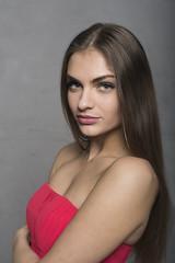 Marina (juergenberlin) Tags: portrait beauty sexy eyes girl woman long hair green