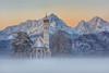 St. Coloman (Schwangau) (https://500px.com/klaussteinert72) Tags: st coloman schwangau bayern allgäu sonnenaufgang nebel sunrise alpenglow mountain
