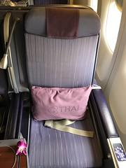 Royal Silk seat (Khunpaul3) Tags: thai airways b777200er hstjt tg621 aircraft aeroplane airplane aviation boeing royal silk class avgeek seat