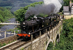 the pines (midcheshireman) Tags: steam train locomotive 44422 bulleid pacific 34027 tawvalley llangollen llangollenrailway wales pinesexpress