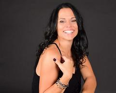 (kathryn_allard) Tags: woman blackhair longhair smile sourire souriante femme cheveuxlongs rire cheveuxnoirs people