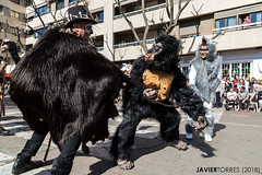 Hunting the beast (The Whisperer of the Shadows) Tags: carnival carnaval parade desfile men hombres disfraces costumes disfraz costume beast bestia gorila gorilla street calle urban urbana geotagged ciudadreal piñata domingodepiñata