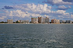 Fort Myers Beach from the Gulf (Michiale Schneider) Tags: fortmyersbeach buildings architecture waterfront gulfofmexico landscape nature michialeschneiderphotography water building