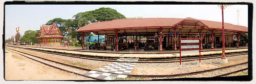 Hua Hin Railway Station in March 2015,  Hua Hin, Hua Hin District, Prachuap Khiri Khan 77110, Thailand.