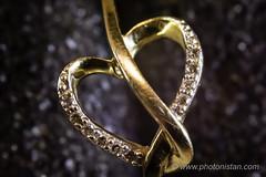Heart shape Ring - Macro shot (Photonistan) Tags: 7dwf real nikon macro love gold diamond ring heart d7100 40mm28