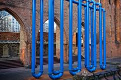 - the blue snake I - (-wendenlook-) Tags: color colors blau blue art kunst rohre tubes klosterkircheruine alexanderplatz berlin urban sony a7ii alpha7ii 3528 35mm 160 f45 iso100 zeiss