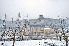 La Roche Guyon DSCF1100_tonemappé (mich53 - thank you for your comments and 4M view) Tags: valdoise hiver winter 4winter donjon château castle paysage frankreich france îledefrance xt2 xf1655mmf28rlmwr snow neige arbres castello larocheguyon