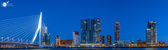 Skyline session (Robert Stienstra Photography) Tags: rotterdam skyline skylines 010 southholland architecture architecturalphotography cityscape cityscapes longexposure longexposurephotography bigcity slowshutter panorama panoramas panoramic blue hour bluehourphotography nikond7100 tokina1224mm waterfront bluehour