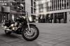 A bike in the city (FocusPocus Photography) Tags: motorrad bike motorycle yamaha stuttgart stadt city gebäude buildings deutschland germany sw bw mono