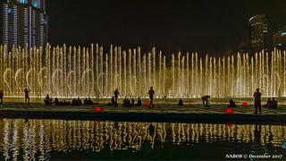 Dubai, United Arab Emirates: Fountains water show at the Burj Khalifa