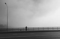 (timmo.haapalainen) Tags: lauttasaari lauttasaaren silta man fishing fog mist alone blackwhite helsinki phonephotography