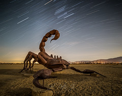 In company of moonlight (ScorpioOnSUP) Tags: borregosprings orion sculptures adventure airplanetrails astrophotography attractions clouds constellation desert deserted desolate landscape landscapephotography localattractions longexposure metal metalsculptures moonlight mountains night nightphotography nightsky outdoors roadtrip scorpion shadow startrails stars travel trip