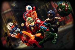 Madballs!!! (harrycobra) Tags: madballs laserofjustice turtles thundercats smurfs zerohour sectaurs actionforce actionfigures toys vintage 80s thrift find diorama