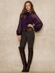 Ralph Lauren n°667 (Blouse et Foulard 2) Tags: blouse foulard ralph lauren silk scarf leather boots