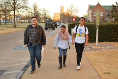 In synch walking trio (radargeek) Tags: ou norman oklahoma ok 2017 january holdinghands couple