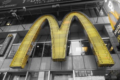 Golden (Henry Hemming) Tags: newyorkcity newyork bigapple city streetphotography timessquare america usa action macdonalds big mac golden arches store takeaway shop sign logo signage