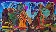 Zwiegespraech 01g abstrakt skulptural (wos---art) Tags: bildschichten zwiegespräche dialog kommunikation auseinandersetzung beziehung gespräch unterhaltung gott god begegnung meeting