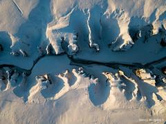Which way the water flows? (Daniel Moreira) Tags: fjaðrárgljúfur canyon austurland snow stream ice icy fjaðrá kirkjubæjarklaustur iceland icelandic ísland islândia islande islanda drone dji mavic mavicpro aerial from above air