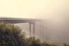 Puente con niebla (PictureJem) Tags: niebla amanecer puente lago agua fog bridge sunset lake water