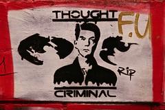 Thought Criminal, Manchester, UK (Robby Virus) Tags: manchester england uk unitedkingdom britain greatbritain stencil street art thought criminal ronald reagan ssosva