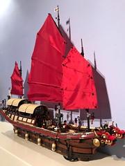 Il Dragone Cremisi (SpaceBrick) Tags: lego moc creation japanese junk ship red dragon