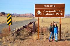 Entering Canyonlands National Park (Joe Shlabotnik) Tags: nationalpark utah violet sign 2017 welcome canyonlands everett november2017 canyonlandsnationalpark afsdxvrzoomnikkor18105mmf3556ged
