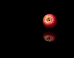 Still Apple (Stevie Robbo) Tags: apple stilllife blackbackground reflection food indoors fruit