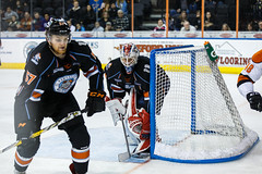 """Kansas City Mavericks vs. Ft. Wayne Komets, March 2, 2018, Silverstein Eye Centers Arena, Independence, Missouri.  Photo: © John Howe / Howe Creative Photography, all rights reserved 2018 • <a style=""""font-size:0.8em;"""" href=""""http://www.flickr.com/photos/134016632@N02/26768688708/"""" target=""""_blank"""">View on Flickr</a>"""