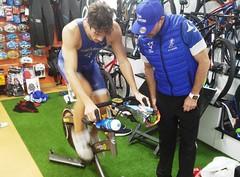David Huertas triatlón Indoor team clavería triatlón World 3