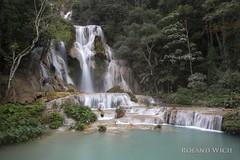 Laos - Kuang Si Waterfalls (Rolandito.) Tags: south east southeast asia lao laos luang prabang kuang si waterfall waterfalls falls wasserfall