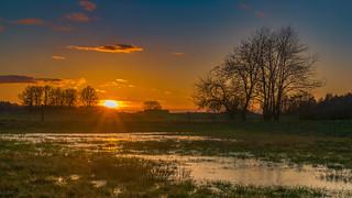 Just a sunset on the field - Einfach ein Sonnenuntergang über den Feldern