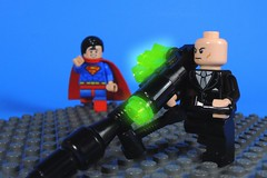 Bit Overkill Even for You Luthor (-Metarix-) Tags: lego super hero minifig lex luthor kryptonite gun man over kill comics comic dc action